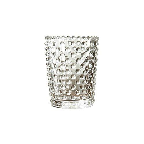 LONGJUAN-C Jarrones Home & Kitchen, Creativo Cuentas Punto Transparente Jugo sin Plomo Cristal Copa Copa Copa Copa de Velas Taza de Leche de Bebida Porcelana