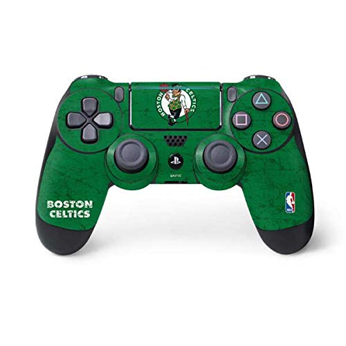 Skinit Decal Gaming Skin for PS4 Pro/Slim Controller - Officially Licensed NBA Boston Celtics Green Primary Logo Design