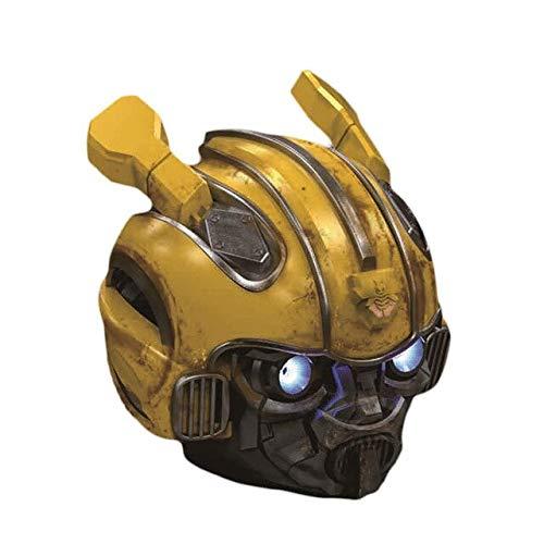 EastWing Año Nuevo Mejor Regalo de Niño! Transformers Bumblebee Helmet Wireless Bluetooth 5.0 Altavoz con Soporte de Radio FM USB Mp3 TF para niños BattleDamage
