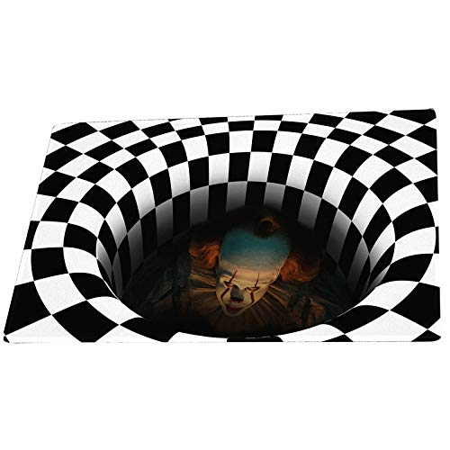 N/W Halloween Doormat Funny Horror Doormat Home Non-Slip Illusion Doormat for Halloween Party Decoration (60cmx90cm)