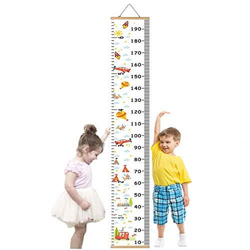 Gráficos de crecimiento para colgar en la pared, medidor niños pared para niños y niñas, decoración de la habitación infantil, Tabla de crecimiento 20 x 200 cm