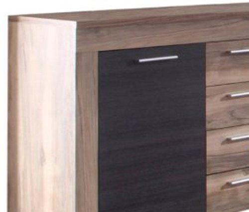 trendteam BM87259 Sideboard Wohnzimmerschrank Nussbaum-satin, Absetzungen dunkelbraun Touchwood Nachbildung, BxHxT 176x79x40 cm - 7