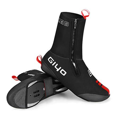 YODZ Cubiertas para zapatos de ciclismo de invierno, térmicas cálidas, de neopreno, impermeables, resistentes al viento, para hombres y mujeres, MTB de carretera, XL