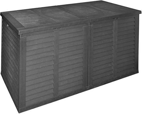 made2trade XXL Gartenaufbewahrungsbox mit 750L Fassungsvermögen in Anthrazit