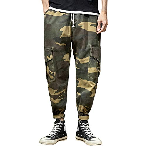 ITISME Männer Camouflage jeans Freizeithose, 2019 Herbst und Winter Lose Stretch Jogginghose Herren Sommer Camouflage Casual Tooling Multi Pocket Fashion Bequeme Hose Outdoor Jogger Camping Pants Sale