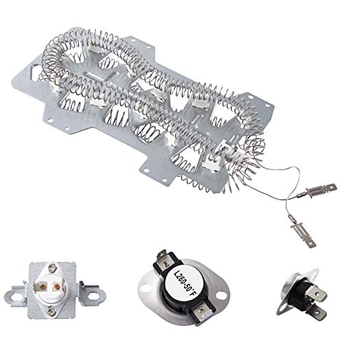 Price comparison product image Dryer Heating ElementDC47-00019Afor Samsung,  Thermal Fuse DC96-00887A and DC47-00016A,  Thermostat DC47-00018A Dryer Repair Kit Replacement