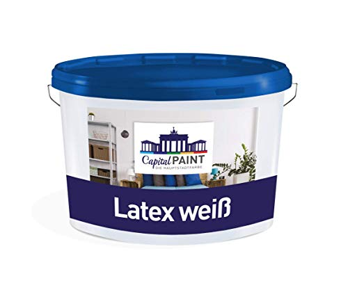 Wandfarbe Weiss Capital Paint Latex Weiß Innenfarbe Strapazierfähig 5,0 Liter