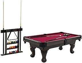 Barrington Billiards Bellevue 90'' Billiard Table with Cue Rack, Red (BL090Y20007)