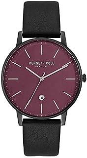ساعة بمينا حمراء وسوار جلدي للرجال من كينيث كول - KC50009006