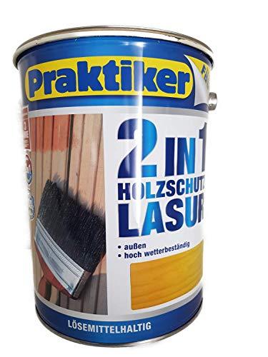 Faust 2in1 Holzschutz Lasur außen 5 Liter Farbwahl, Farbe:Eiche