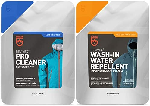 GEAR AID Care Kit with Revivex Pro Cleaner and Revivex Wash in Water Repellent Clear Two 10 product image
