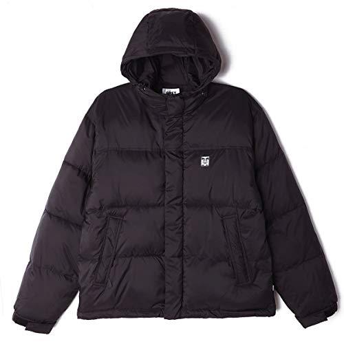 OBEY Fellowship Puffer Jacket Giacca, Nero, XL Uomo