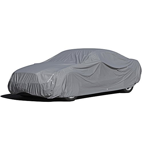 OxGord 5 LayerPly Duty Water Resistant Car Cover with Fleece Inner Lining, Fits Cars up to 180