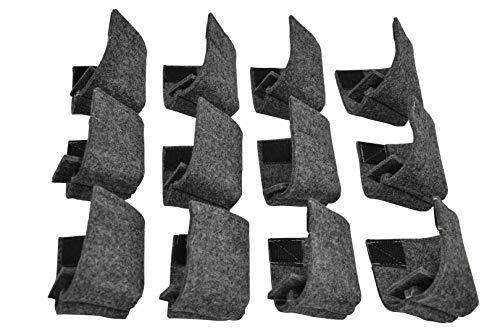 AMF Life Filz Bodenschoner 12er Set, grau-meliert, Kantenschutz für Bierzeltgarnitur, Festzeltgarnitur
