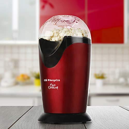 Orbegozo PA 4226 - Palomitero portátil, rojo y negro metalizado, 1200 W