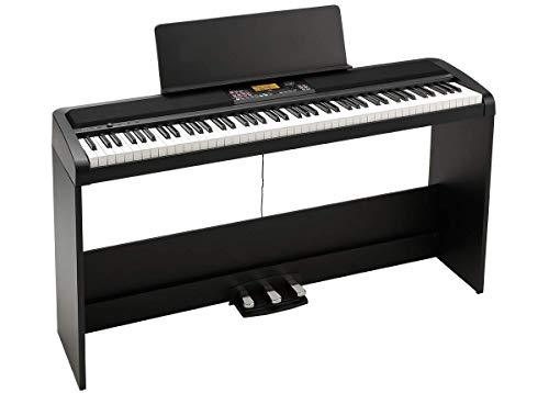 KORG Digitalpiano XE20SP, Digitalpiano mit Ständer Notenpult und 3er Pedaleinheit, Digital Ensemble Piano, Keyboard mit 88 anschlagdynamischen Tasten, schwarz