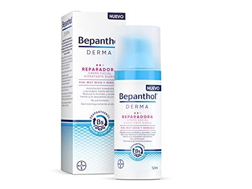 Bepanthol Derma Reparadora Crema Facial Hidratante de Día, Piel Muy Seca y Sensible, 50 ml