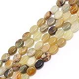 Sweet & happy girl's Store ovalada de piedras preciosas de-grano-Strand 38.1 cm de la joyería de la fabricación de la perla, 8x10mm Hua anzeigen Jade Beads