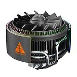 GOLDEN FIELD Enfriador de CPU A-RGB, ventilador de CPU PWM, tarjeta madre SYNC, 4 tubos de calor de cobre enfriador de aire para Intel& AMD