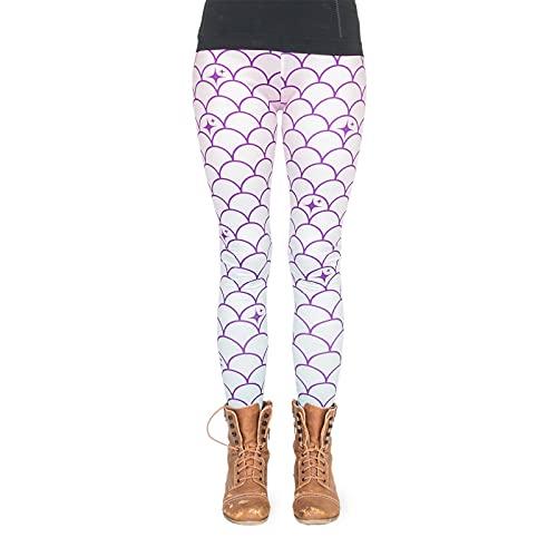 Preisvergleich Produktbild cosey - bedruckte bunte Leggins (Einheitsgröße) - Design Meerjungfrau Rosa