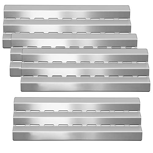 Zemibi Heat Plate Tent Shield, Grill Heat Plate, 4 Pack, 17 9/16', Stainless Steel Flame Tamer for Gas Grill Huntington 6761-64, 6761-84, 6761-67, Grill Replacement Parts for GrillPro 235089S Model
