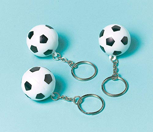 Amscan 390264 - Schlüsselanhänger Championship Soccer, 12 Stück, Fußball