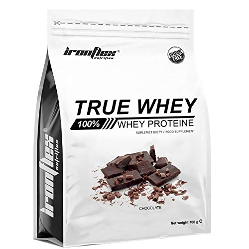 Iron Flex True Whey Protein Concentrate WPC – 1 Pack – Whey Protein Concentrate – Full Amino Acid Profile – Zero Sugar – Great for Bodybuilding and Gym (Chocolate, 700g)