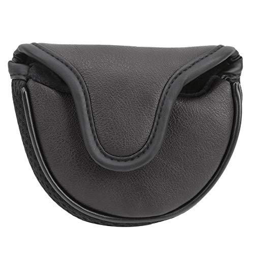SALUTUYA Golf Putter Kopfbedeckung Sonnenschutz Klettverschlüsse Design, Golfzubehör, geeignet für viele Geschenksituationen(Black)