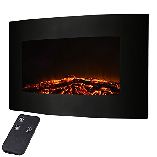 Giantex 35' XL Large 1500w Adjustable Electric Wall Mount Fireplace Heater W/Remote