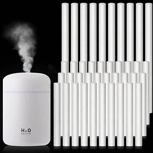 40 Stück Luftbefeuchterstäbe Baumwollfilter Nachfüllstäbe Dochte Ersatz für tragbare persönliche USB-Luftbefeuchter im Büro zu Hause Schlafzimmer, 2 Größen