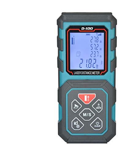 MAKINGTEC Laser Measure 328Ft M/In/Ft Laser Distance Meter,5 Measurement Modes, Pythagorean Mode ,LCD Backlight Display, Volume , Area Measurement, Digital Laser Tape Measure D100 Color Blue … …