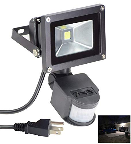 Led Motion Sensor Flood Light Outdoor 10W 800LM...