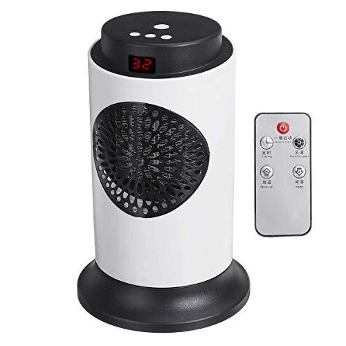 GU-XIA 700W Puissance Électrique Chauffage Céramique Chambre Chauffage Électrique Chauffe Air Chauffe-réchauffeur d'air du Ventilateur 220 V 50Hz 14x14x22cm (Couleur : Intelli add Remote)