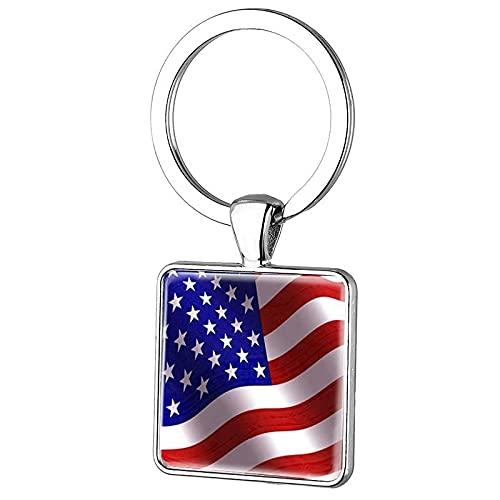 TUDUDU Moda Ee. Uu. Llavero Con Bandera De Ee. Uu. Llavero De Águila De Estados Unidos Y La Estatua De La Libertad Llavero Estilo Encanto Llavero