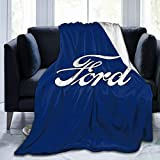 WUKON Super-Soft Classic Car Logos-Ford Throw Blanket Suitable for Sofa Micro Flannel Fleece Blankets for Adults and Children Bed Blankets 60' x50