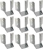 KOTARBAU® Juego de 10 soportes para vigas tipo A, 70 mm, conectores para vigas de madera, conectores para construcción exterior