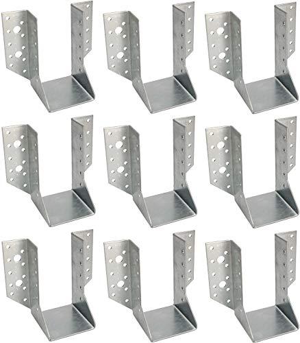 KOTARBAU® 10er Set Balkenschuh Typ A 70 mm Holzbalkenverbinder Balkenverbinder Verbinder für Baukonstruktion außenliegend