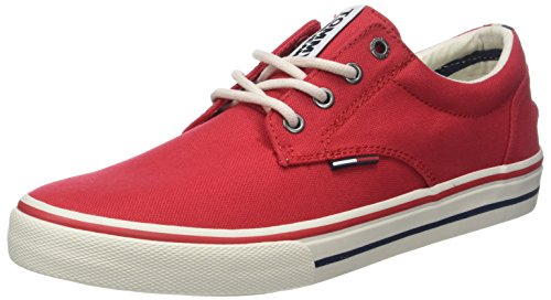 Hilfiger Denim Herren Hilfiger Denim Textile Sneaker, Rot (Tango Red 611), 44 EU