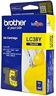 Brother Ink Cartridge, Yellow [lc38y]