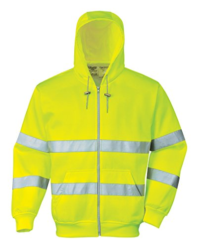 PORTWEST B305 B305YERXL Sweat à capuche avec fermeture Éclair de sécurité Taille XL Jaune