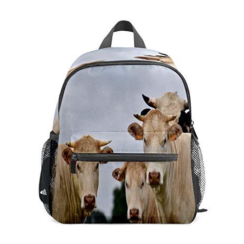 Mochila infantil para niños de 1 a 6 años de edad, mochila perfecta para niños y niñas de granja, ganado, familia, vaca, animal
