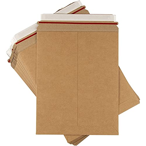 Rigid Mailers - 25 Pack 9x11.5 Stay Flat Cardboard No Bend Shipping...