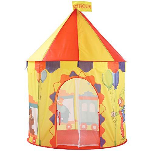 HE TUI Carpa Infantil Juguete de Interior Juego Castillo Circo Yurta Carpa portátil Plegable Chico Chica Princesa Princesa
