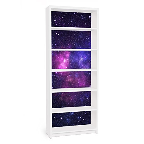 Apalis Vinilo Adhesivo para Muebles IKEA - Billy Bookshelf - Galaxy, Größe:2 Mal 94cm x 76cm