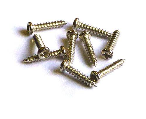 Linsenkopf Blech-/Holzschrauben, mit Spitze und PH Kreuzschlitz, Abmessung: 2 x 10 mm, VE=100 Stück, Kopfdurchmesser = 3,5mm, Werksoff: Stahl vernickelt