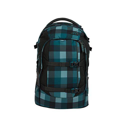 satch Pack Blue Bytes, ergonomischer Schulrucksack, 30 Liter, Organisationstalent, Blau/Grau
