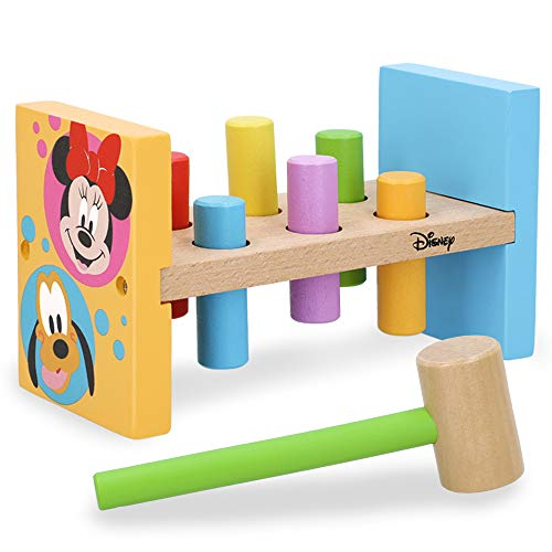 Disney - Juguete de madera Juego martillo niños niñas 1 2 años Juguete educativo Preescolar para niños Montessori Juguetes bebes 1 2 años Juego golpear al topo Disney