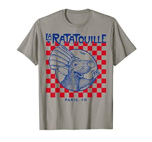 Disney Pixar Ratatouille Remy Paris Checkerboard T-Shirt T-Shirt