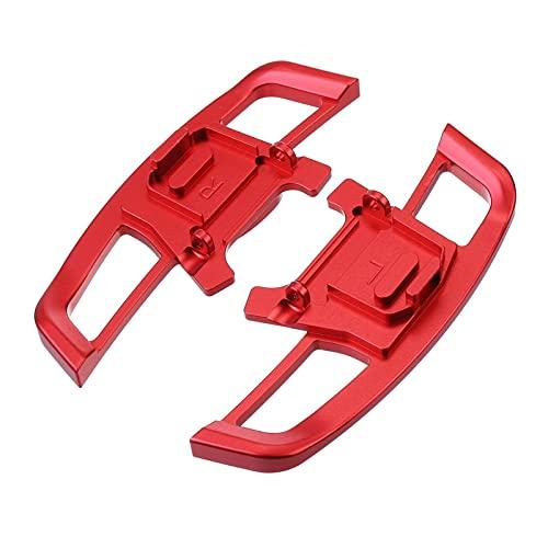 Cambio de remo extendido Par De Paleta De Cambio De Volante De Coche DSG Extensión De Paleta De Cambio De Marchas Para V-W GO-LF MK7 G-TI R GTD G-TI 7 2014-2019 (Color : Red 1)