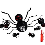 Christmas Balloon Spider Tricky Toy Halloween Scary Plush Spider Dress Up Balloons Scary Party Dress up(45 inch)